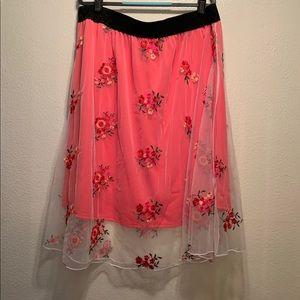 LuLaroe LOLA Floral Print Skirt NWOT